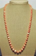 "Genuine Coral Necklace,18"", Light Pink,Graduated, 14 kt Gold Clasp--#G040918"