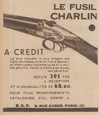 Z8598 Fusil CHARLIN - Pubblicità d'epoca - 1931 Old advertising