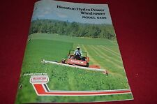 Hesston 6400 Self Propelled Windrower Dealer's Brochure DCPA2