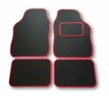VAUXHALL CORSA B C D E UNIVERSAL Car Floor Mats Black & Red Trim