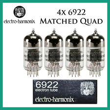 New 4x Electro Harmonix 6922 / ECC88 / 6DJ8 | Matched Quad / Quartet / Four | EH