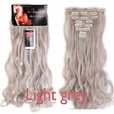 Real Thick 8pcs 18clips Hair Extensions Clip In On Hair As Human Remy Brown Hair