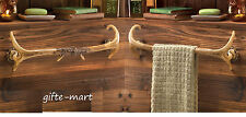 2 Deer antler Lodge rustic kitchen Bathroom bath towel holder long bar rack hook