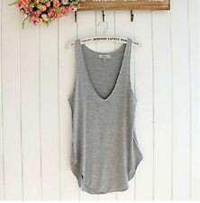 2016 Summer Woman Lady Sleeveless V-Neck Candy Vest Loose Tank Tops T-shirt NICE