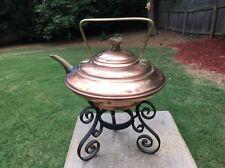 Christophor Dresser Benham & Froud Copper & Brass Kettle & Wrought Iron Stand