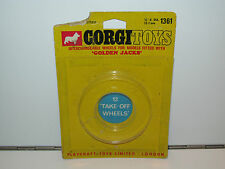 VINTAGE CORGI TOYS 1361 GOLDEN JACK 'TAKE-OFF WHEELS' EMPTY BLISTER 1960s METTOY