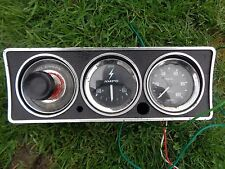 3 SMITHS CLASSIC CAR INSTRUMENT GAUGES OIL CHECK AMMETER & OIL PRESSURE IN POD