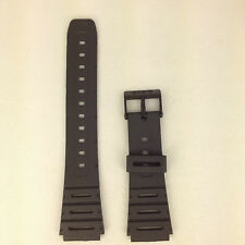Casio CA-53W Genuine Replacement Band CA61W / W-720G Black Rubber Watch Strap