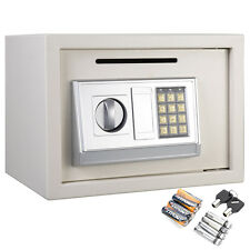 "14"" Digital Depository Drop Cash Safe Box Gun Jewelry Home Hotel Lock White New"