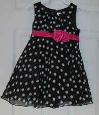 NWT Girls BLACK & WHITE PINK FLOWING  WEDDING, EASTER,Quinceañera DRESS,Size 3T