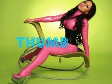 KAMILLIA KOVA - 8x6 inch Photograph #512 in Tight Pink PVC Rubber Catsuit