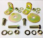 Seat Belt Mounting L Bracket 4 5 Point Racing Harness 90 Degree Roll Cage 2 Pk.