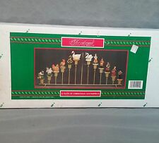 12 Days of Christmas Centerpiece Candelabra House of Lloyd Around the World Box