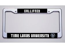 """DOCTOR WHO FAN?  """"GALLIFREY/TIME LORDS UNIVERSITY"""" LICENSE PLATE FRAME"""