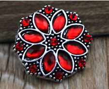 DIY 3D Rhinestone Drill Snaps Chunk Charm Button Fit For  Leather Bracelets  P3
