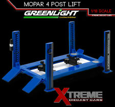 GREENLIGHT 12967 1:18 SCALE FOUR POST LIFT MOPAR RAISES & LOWERS