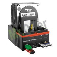 Docking station triplo per Hard disk Sata 2,5 3,5 Ide usb micro sd All ingresso