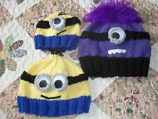 MINION  HATS  * KNITTING PATTERN **