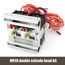 BIQU 12v Mk10 Dual Head Extruder+metal X AXIS,FOR REPRAP 3D PRINTER PART
