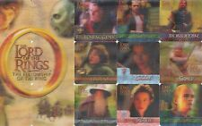 LORD OF THE RINGS FELLOWSHIP RING MOVIE  3D ACTION FLIPZ 2002 BASE CARD SET 60