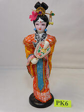 """VINTAGE CHINESE FIGURE STATUE 10"""" TALL TRADITIONAL DRESS WITH WINGS MING STYLE"""