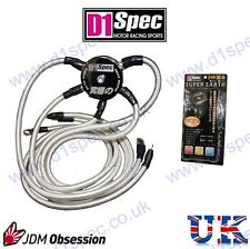 D1 SPEC SUPER EARTH GROUND WIRE KIT 4AWG SUPRA SKYLINE IMPRZA STI WRX EVO 200SX