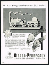 1950's Vintage 1955 Girard Perregaux 6749 Dress & 6768 Gyromatic Watch Print AD
