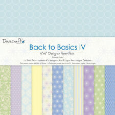 "BACK TO BASICS 4  - Taster Pack of 6""x6"" Papers - Dovecraft"