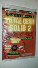 NEW METAL GEAR SOLID 2 STRATEGY GUIDE FOR PS2 PLAYSTATION 2 W/2 GAMESHARK CD'S