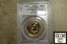 2005 PCGS MS69.    .99999 Expirimental Issue. Mintage 400