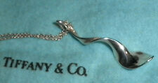 Sterling Silver Authentic Frank Gehry Orchid Pendant Necklace for Tiffany & Co.
