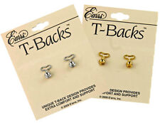 """T-BACKS"" The Stabilizer Replacement Earring Backs for Big Earrings and Studs"