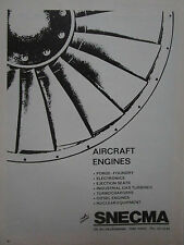1974-75 PUB SNECMA AIRCRAFT ENGINE FORGE FOUNDRY ELECTRONIC EJECTION SEAT AD