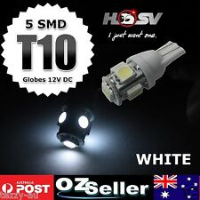 2 x White T10 LED Bulbs to suit Holden VF Commodore Parker Lights SS SSV SV6 HSV