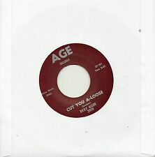 RICKY ALLEN-CUT YOU A-LOOSE/JUNIOR WELLS-CHA IN BLUE  AGE Re-Iss/Re-Pro  R&B/MOD