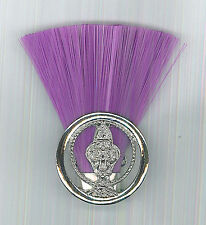 SCOUTS OF NEPAL - SCOUT COMMISSIONER (PURPLE COLOR) Metal Plume / Hat Patch