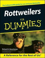 Rottweilers for Dummies by Richard G. Beauchamp (2000, Paperback)