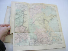 China Interior Large Folding Map Geography Yellow River South Africa Diamonds