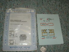 Microscale decals N 60-682 CSX cabooses Operation Life Saver Red Block  H20