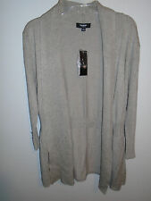 NWT Premise Studio Woman Sandstone Heather Open Front Cardigan Size Small