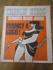 CHARLIE HEBDO N°201 ESSENCE PRIX GASOIL DIESEL GEBE CABU REISER 2 sept 1974