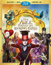 Alice Through the Looking Glass (Blu-ray/DVD, 2016, Includes Digital Copy) NEW