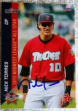 San Diego Padres Nick Torres Signed 2015 MWL All-Star Auto Card Tincaps