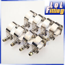 "8x 1.75""inch Turbo Pipe Hose Coupler T-bolt Clamp Stainless Steel 47/55mm"