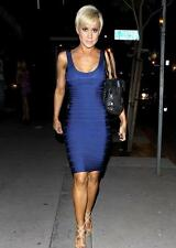 HERVE LEGER Blue bandage Dress SZM  UK10-12 US6-8