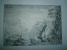 Planche gravure Claude Joseph Vernet La plage à la grande tour