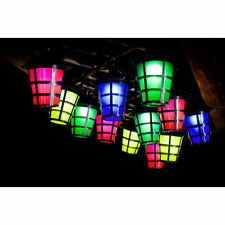 9 Metre 20 Outdoor Garden LED Hanging Lantern Light Colour String Chinese NEW