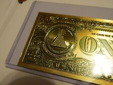 .999 24k Gold USA 1 One Dollar Bill/Banknote-  NR No Reserve