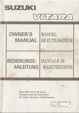 SUZUKI VITARA Betriebsanleitung 1988 Bedienungsanleitung Owner´s manual ... BA