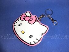 Hello Kitty Head IC ID Card Holder Case Sheath Cover Skin Bag Charm Key Ring